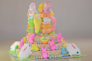 An Idea for Easter: Rice Crispies Marshmallow Cake