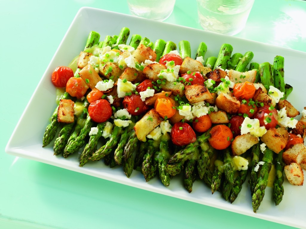 Weber's Time To Grill Cookbook Asparagus and Tomato Salad With Feta