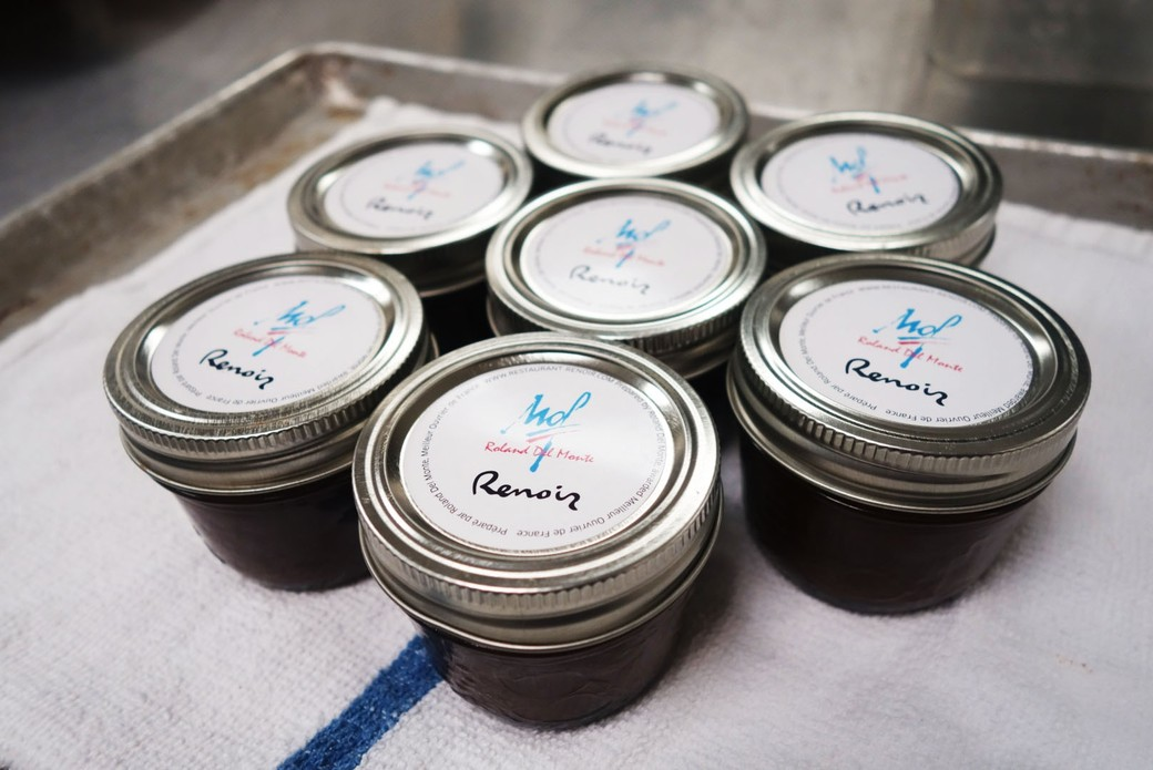 Photo of chocolate spread prepared by Chef Roland del Monte Photo credit: Guillaume Sans