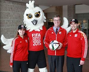 Ottawa Mayor Jim Watson poses with FIFA Ottawa officials.  PHOTO:John Major