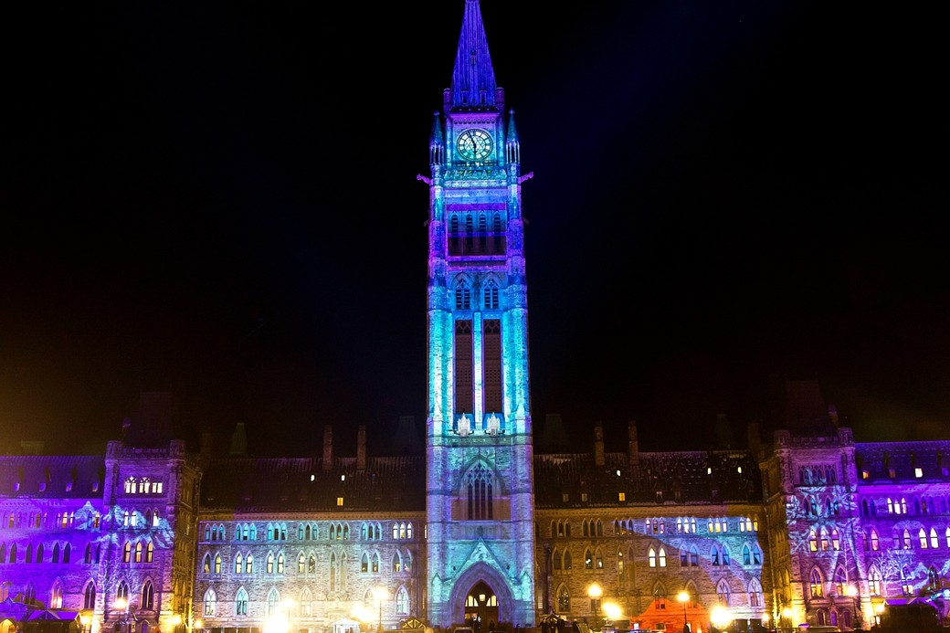 parliament hill shines bright for 32nd annual christmas lights across canada event