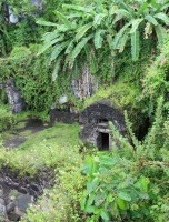 The ruins of the police station where the only survivor of 1920 volcano was found.
