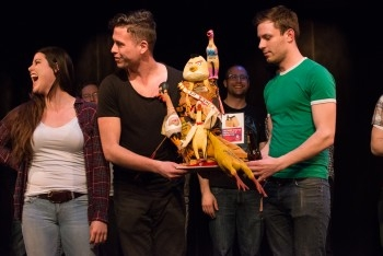 May Can Theatre walks away with the coveted Rubber Chicken award at the 2015 Ottawa Theatre Challenge. Photo courtesy of Ruth Steinberg Photography.