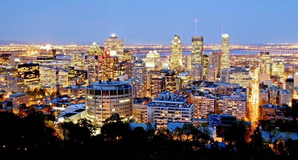 Photo of Montreal from Mount Royal Photo credit: Tourisme Montreal