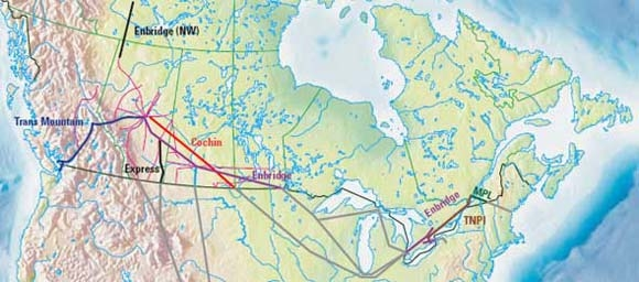 Oil pipelines regulated by the NEB