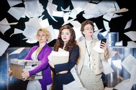 Public_Servant_-_Papers_Flying_-_L-R_Sarah_McVie,_Haley_McGee,_Amy_Rutherford_-_photo_GCTC_Andrew_Alexander[1]