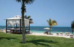 Beach side at the RIU Palace Peninsula, Cancun.