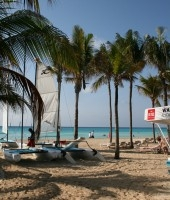 The Riviera Maya is famous for it's beautiful white sandy beaches.