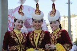 Kazakh women in native dress.