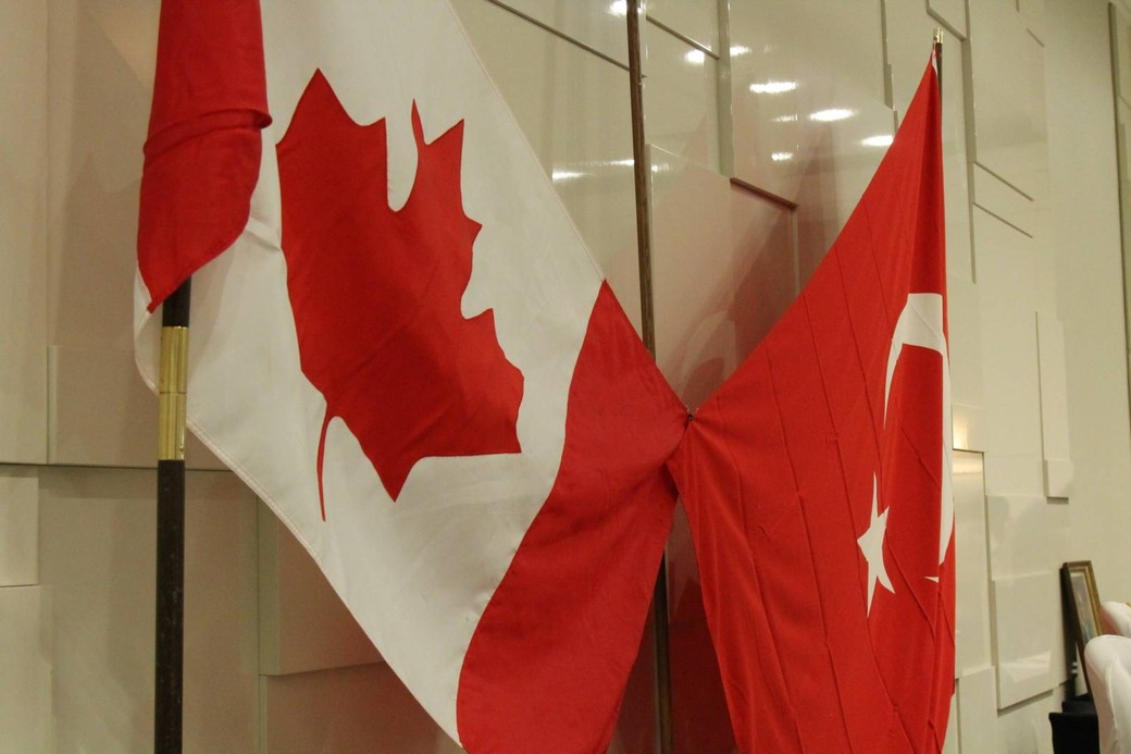 Turkish and Canadian flag.