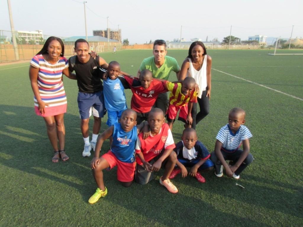 A group of children in Shelter Them's soccer program. Photos courtesy of Shelter Them.