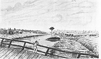 Richmond settlement around 1830. - Library and Archives Canada.
