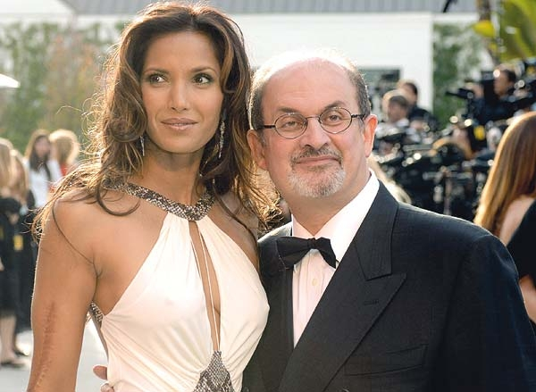 Salman Rushdie and Padma Lakshmi PHOTO: FishbowlLA