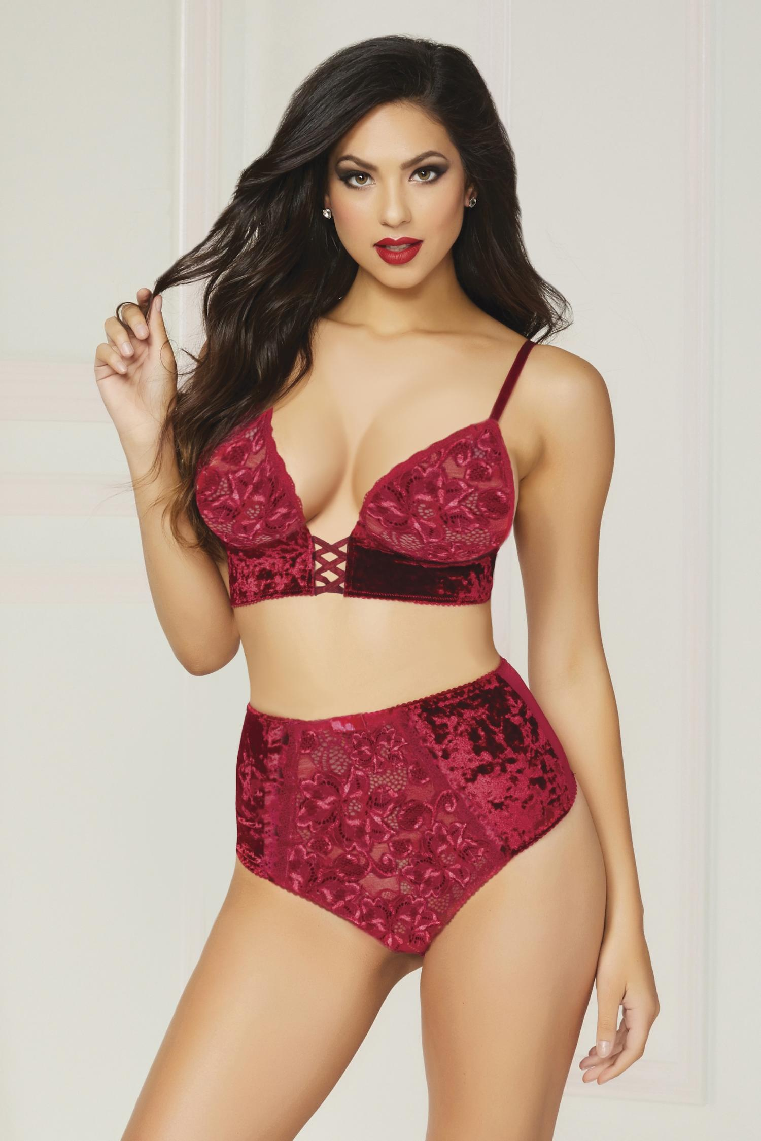 ... and who doesn t like how crushed velvet feels  This is a great option  for anyone on the bustier side 7bf9b8d78
