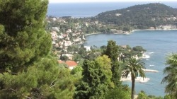 A hilltop view of the French Riviera.