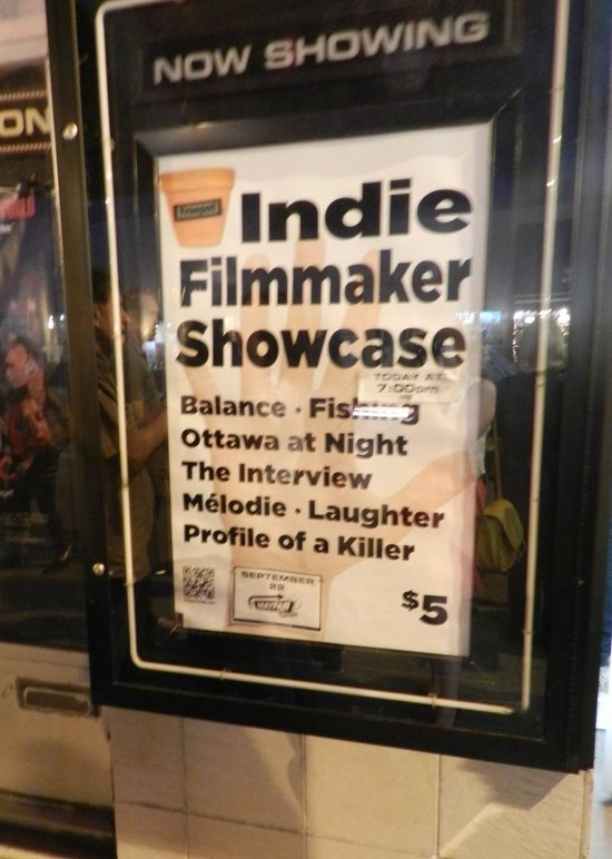 First Annual Indie Filmmaker Showcase does Ottawa Proud