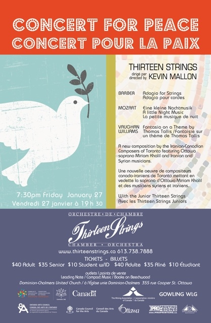Hope is on the Programme for Thirteen Strings' Concert for Peace