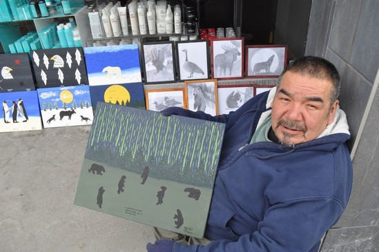 Native Man Celebrates Sobriety with Art