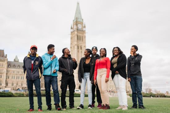 100 Youth Join MPs on Parliament Hill to Witness Democracy in Action