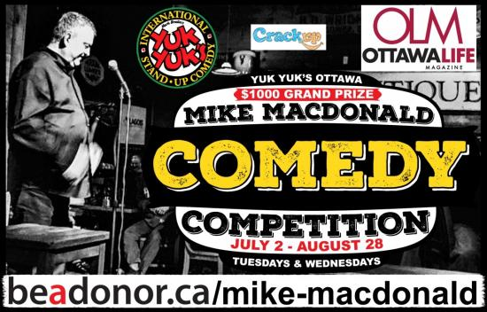 Celebrate Canadian Comedians with Yuk Yuks' Mike MacDonald Comedy Competition
