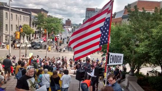 Protesters Gather at U.S. Embassy with Clear Message: Racism Is Not Welcome Here
