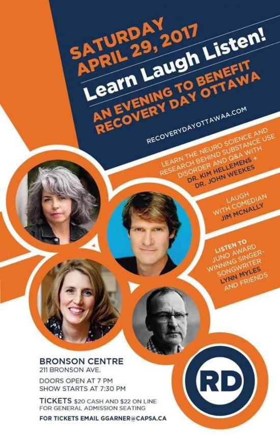 Learn Laugh and Listen at Recovery Day Ottawa Benefit