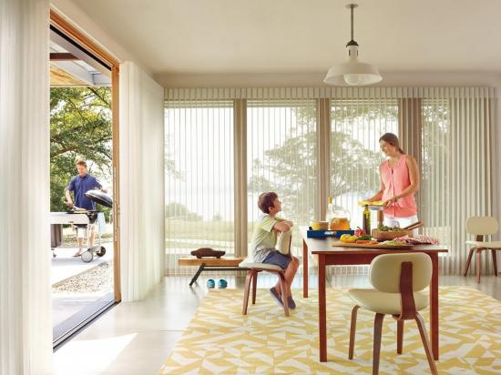 How to choose window treatments for sliding glass doors