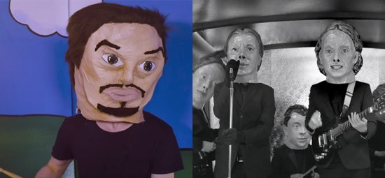 Giant Paper Heads: Who Wore it Better? Arcade Fire or WOTE?