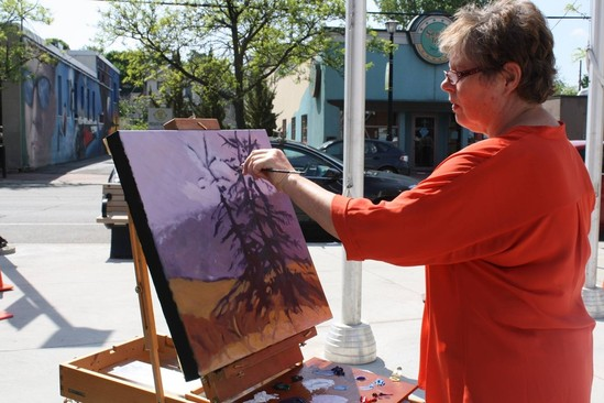 "Westboro Artists ""Paint-Out"" in Winston Square"