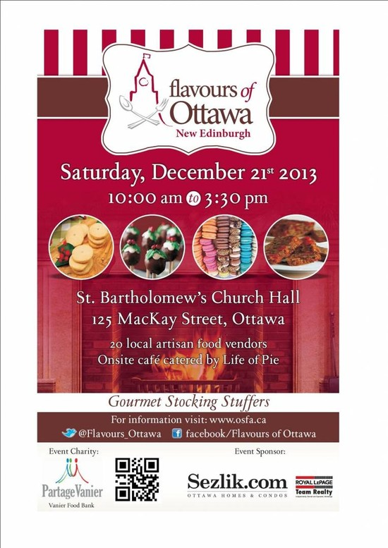 Don't Miss Flavours of Ottawa:  Holiday Food Markets