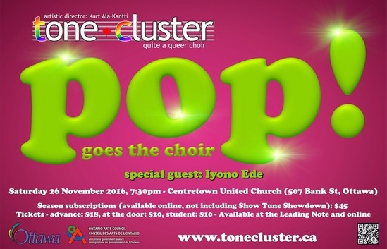 Tone Cluster Presents Pop Goes the Choir