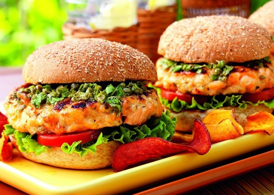 Burger of the Week: Cedar Planked Salmon Burgers