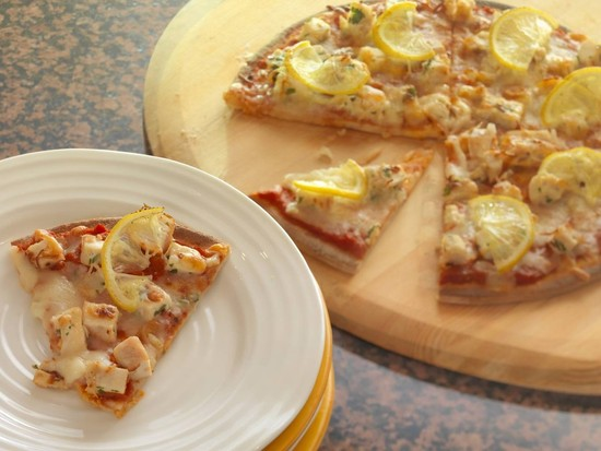 Udi's Lemon Gremolata Chicken Pizza…With a Twist!