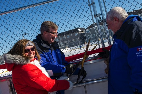 Tomlinson Pledges $1 Million over the Next Five Years at Opening of New Outdoor Rink in Kanata