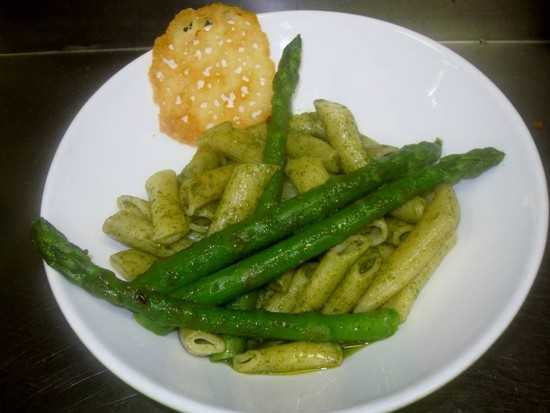 Grilled Asparagus and Roasted Pistachio Pesto