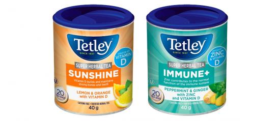 Tetley's new super teas for fall and winter