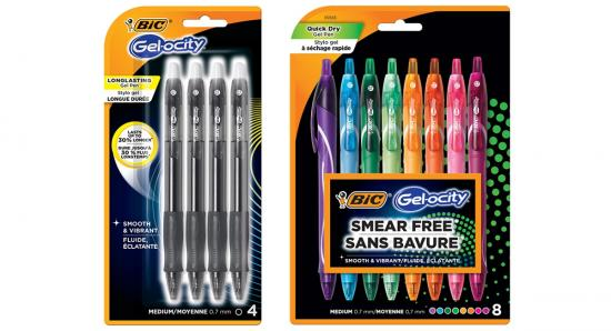 Get ready for back to school with quick dry BIC Gel-ocity pens