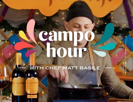"Campo Viejo and celebrity Chef Matt Basile's ""Campo Hour"" bring light to a dark winter"