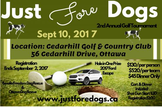 Golf Goes to the Dogs at the 2nd Annual Just Fore Dogs Golf Tournament
