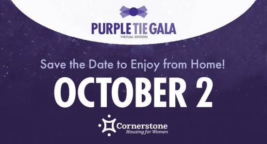 Violet, lilac, plum, grape, whatever you want, get it on for the Purple Tie Gala