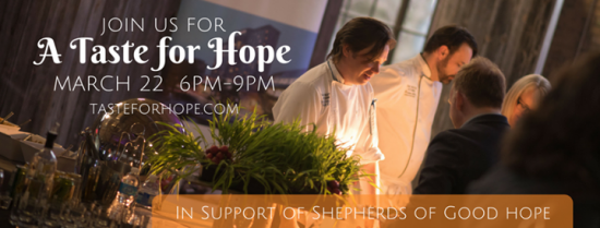 "5th Annual ""A Taste for Hope"" Returns to Delight Foodies and Raise Funds"