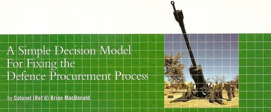 A Simple Decision Model for Fixing the Defence Procurement Process