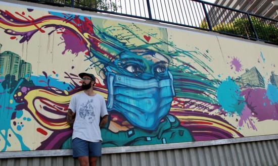 Local artist turns lockdown sketch into lasting tribute