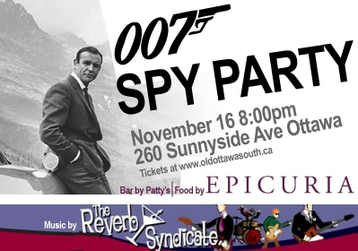 """Shaken or Stirred? Who cares? Just get to the 007 Spy/ """"Funraiser"""" Bash on Saturday"""