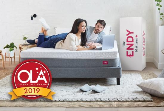 Endy mattress is the OLA 2019 Best Mattress in Canada