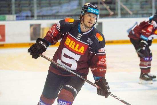 Filip Chlapik hits the ice in Prague while waiting for NHL season