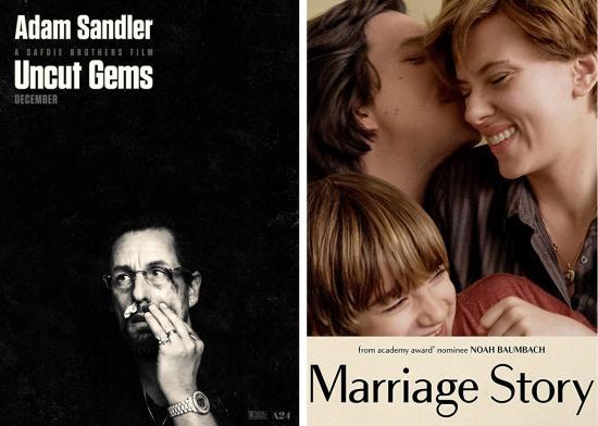 Film Reviews: Uncut Gems & Marriage Story
