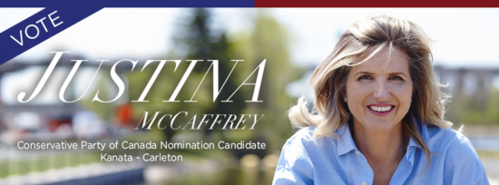 Justina McCaffrey Runs for Tories in Kanata