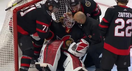 Goalie woes continue, prospects shine, and Karlsson makes news