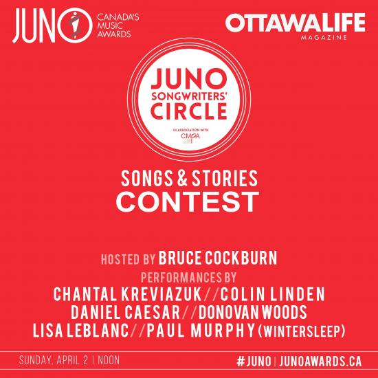 CONTEST: We we want to give you a slice of the JUNOs with the JUNO Songwriters' Circle